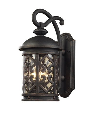 Artistic Lighting Tuscany Coast Outdoor Sconce, Weathered Charcoal