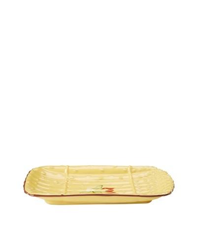 Artland Margaux Asparagus Platter, Mustard/Rust