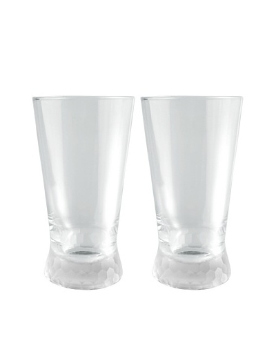 Artland Set of 2 Presscott Frosted Base 17-Oz. Highball Glasses