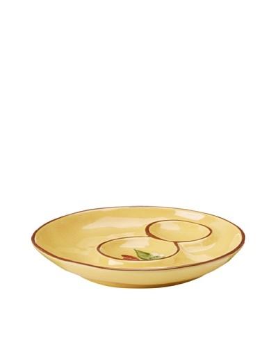 Artland Margaux Artichoke Plate, Mustard/Rust