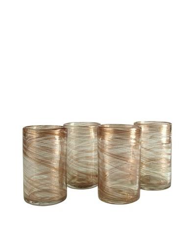 Artland Set of 4 Shimmer 19-Oz. Highball Glasses