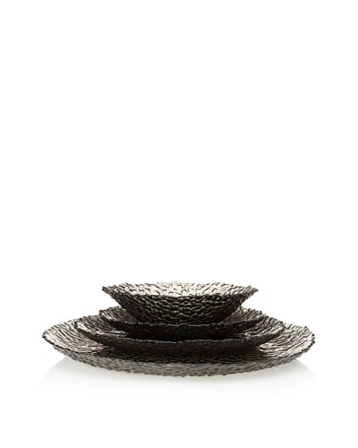 Artland Dapple 4-Piece Place Setting, Smoke