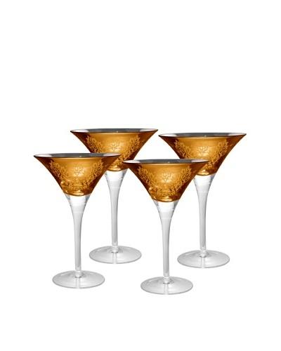 Artland Set of 4 Brocade 8-Oz. Martini Glasses