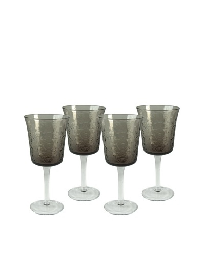 Artland Set of 4 Echo 12-Oz. Goblets, Smoke