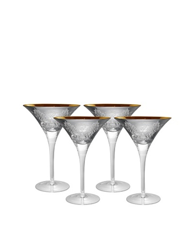 Artland Set of 4 Brocade 8-Oz. Martini Glasses