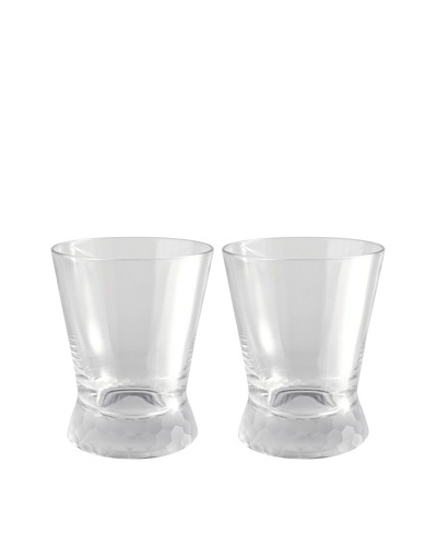Artland Set of 2 Presscott Frosted Base 12-Oz. Double Old Fashion Glasses