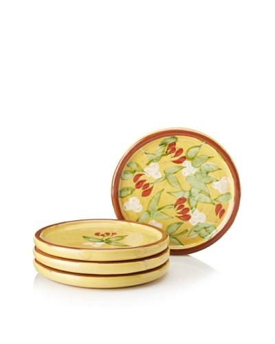 Artland Set of 4 Margaux Coasters, Mustard/Rust