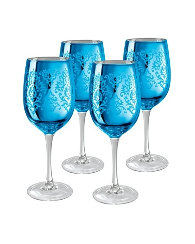 Artland Set of 4 Brocade 15-Oz. Wine Glasses