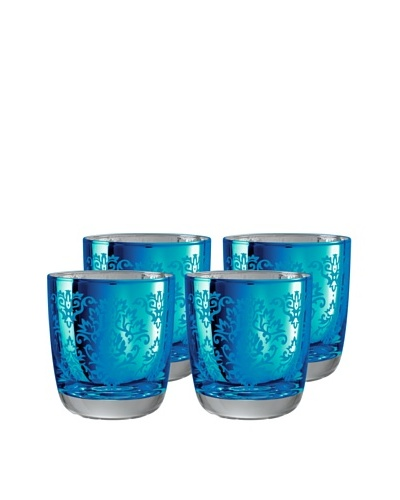 Artland Set of 4 Brocade Double Old-Fashioned Glasses