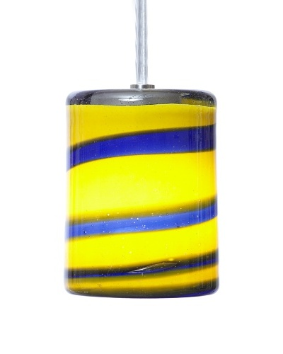 Arttex Spring Pendant, Blue/Yellow