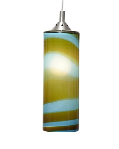 Arttex Cylinder Pendant, Aqua/Amber