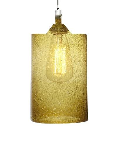 Arttex Wide Cylinder Pendant, Gold