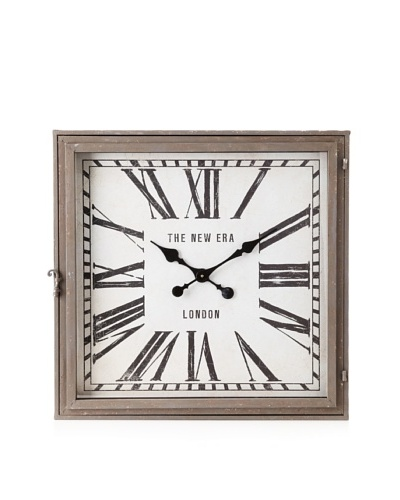 Arty Clock Square Grey/Black/White 26.5 x 26.5As You See