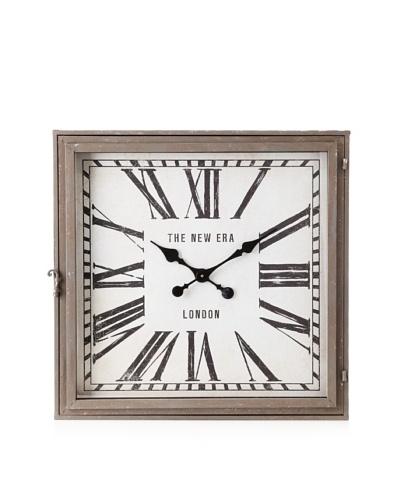 Arty Clock Square Grey/Black/White 26.5 x 26.5