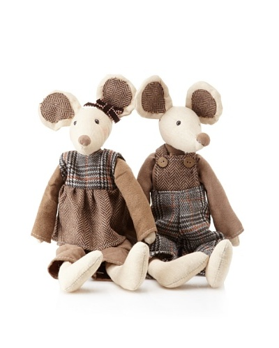 Arty Mouse Couple, Brown/Grey