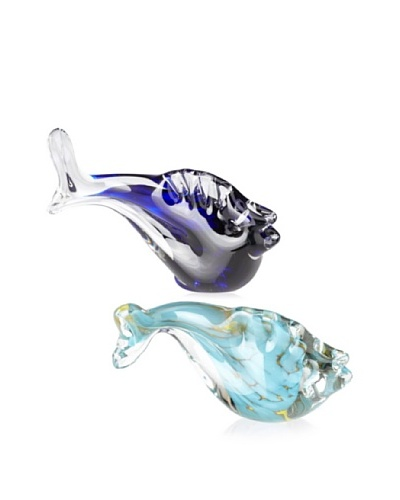 Asheville Glass Center Set of 2 Fish