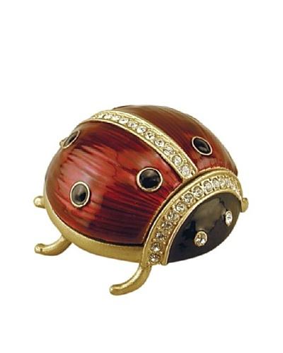Ashleigh Manor Hand-Painted Collectible Jeweled Ladybug Enameled Box
