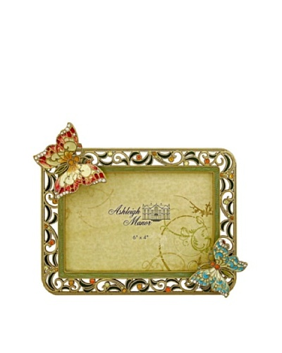 Ashleigh Manor Hand-Painted Butterfly Frame