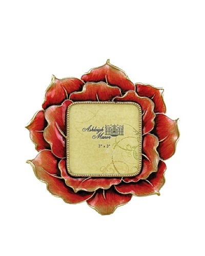 Ashleigh Manor Hand-Painted 3 x 3 Textured Floral Frame