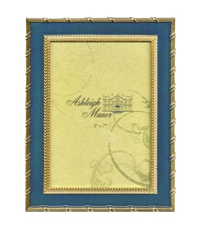 Ashleigh Manor Hand-Painted Rectangular Golden Border Frame