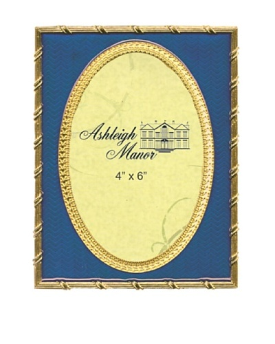 Ashleigh Manor Hand-Painted Golden Background Oval Frame