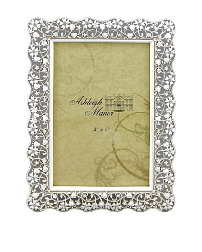 Ashleigh Manor Painted Photo Frame with Delicate Openwork