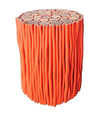 Asian Art Imports Orange Stick Stool