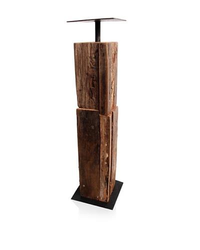 Asian Art Imports Tropical Hardwood Candle Holder, Medium