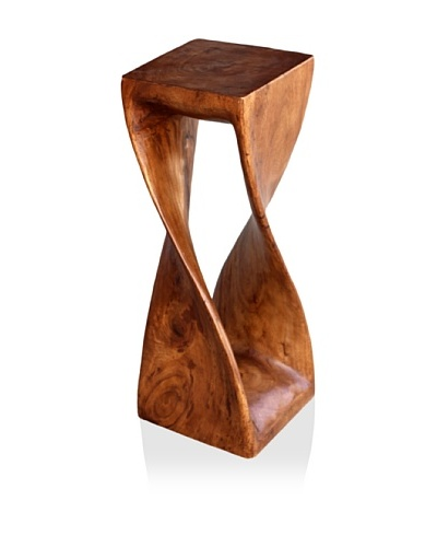 Asian Art Imports Acacia Wood Tall Twist Stool