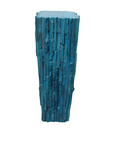 Asian Art Imports Rustic Stand, Cyan