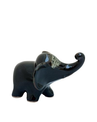 Asian Art Imports Celadon Elephant, Black