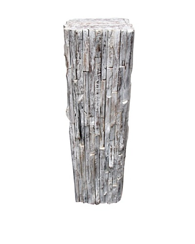 Asian Art Imports Rustic Stand, White