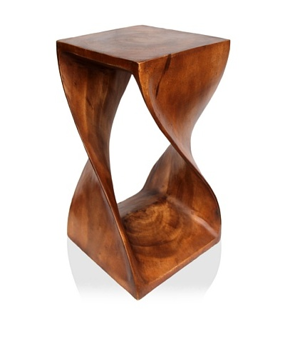 Asian Art Imports Acacia Wood Twist Stool