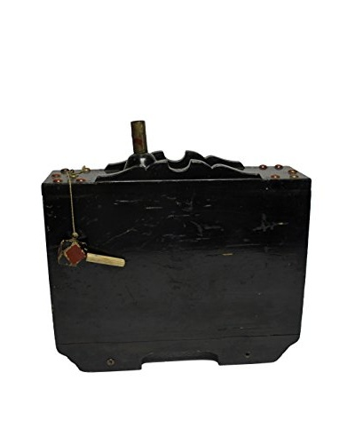 Asian Loft Early Meyi Era Sake Barrel, Black/Brown