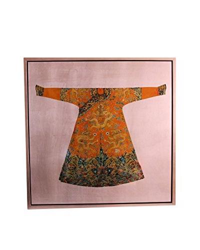 Asian Loft Kimono In Frame, Purple/Orange/Green