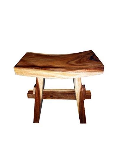 Asian Loft Teak Wood Sushi Stool, Natural