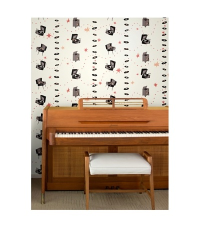 Astek Wall Coverings Set of 2 Jumping Jive Pale Wall Tiles by Jim Flora