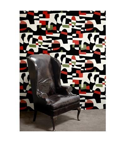 "Astek Wall Coverings Set of 2 ""Shape Shifter"" Wall Tiles by Jim Flora"