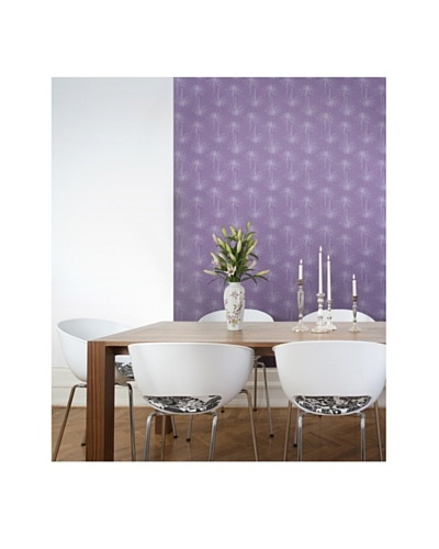 Astek Wall Coverings Set of 2 Skinny Mums Purple Wall Tiles by Jessica Swift