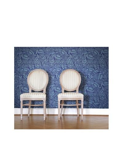 Astek Wall Coverings Set of 2 Pyrite in Blue Wall Tiles