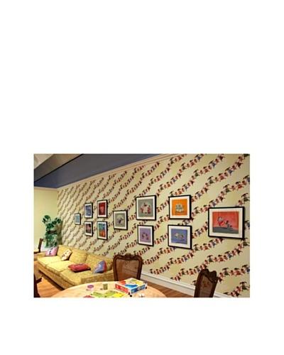 Astek Wall Coverings Set of 2 Giggle Pop Wall Tiles by Gary Baseman