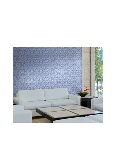 Astek Wall Coverings Set of 2 Floral Diamond Damask Wall Tiles