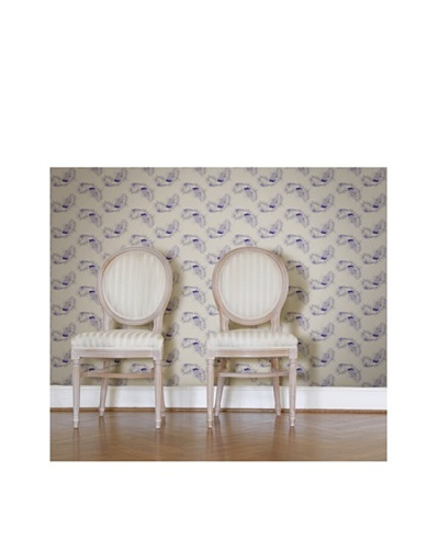 Astek Wall Coverings Set of 2 Ostrich Feather Wall Tiles