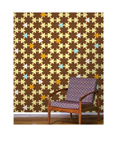 Astek Wall Coverings Set of 2 Lincoln Logs Wall Tiles