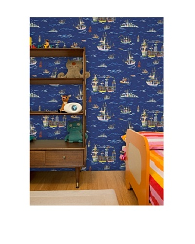 Astek Wall Coverings Set of 2 On The Sea Wall Tiles by Jim Flora