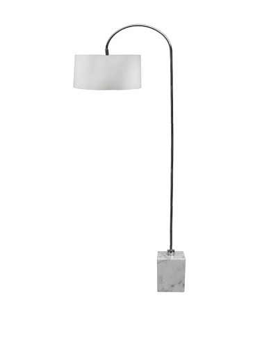Aurora Lighting Marble Base Arc Floor Lamp