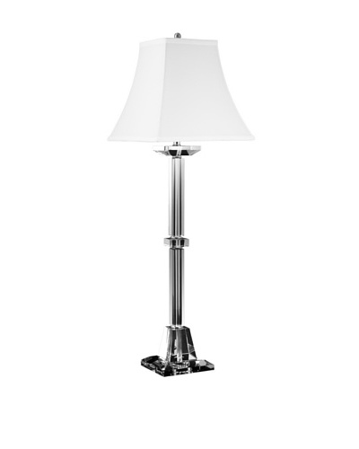 Aurora Lighting Square Clear Crystal Table Lamp