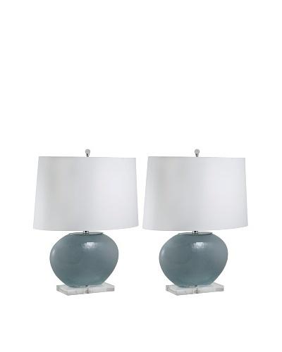 Aurora Lighting Oval Glass Table Lamp [Gray]