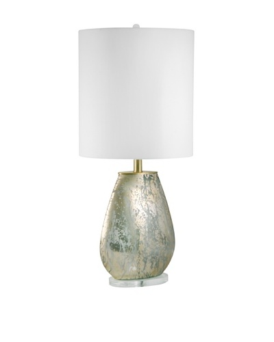 Aurora Lighting Oval Gold Mercury Glass Table Lamp