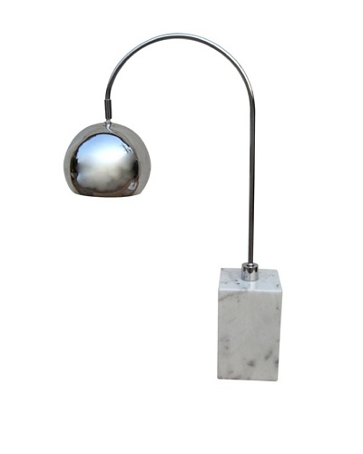 Aurora Lighting Marble Base Arc Desk Lamp